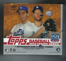 2019 Topps Update Baseball Jumbo Factory Sealed Hobby Box +2 Silver Packs