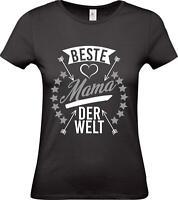 Shirtstown Lady T-Shirt, beste Mama der Welt, Familie