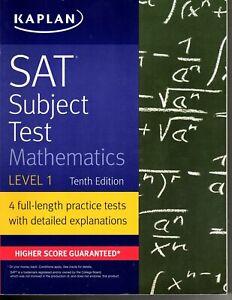 Kaplan SAT Subject Test - Mathematics - Level 1 - With 4 Practice Tests
