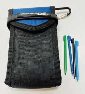 BDA Nintendo DS Transport Bag w/ Zipper Pouch In Blue/Black.  4 Stylus Pens!
