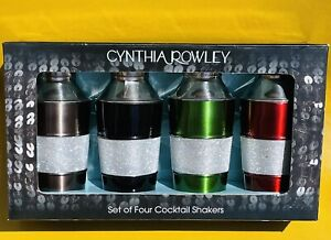 Cynthia Rowley Set of Four Multicolored Mini Cocktail Shakers