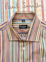 "PAUL SMITH MEN'S SHIRT 16"" Collar - Beautiful Multi-Colour Striped Shirt"