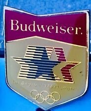 A. Bush INC Budweiser Olympic Pin 1984 Los Angeles New Old Stock Adsco With Case