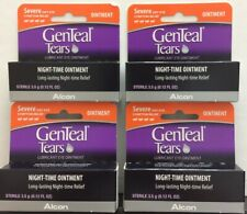 4x Alcon GenTeal Tears Severe Dry Eye Relief Night-Time Ointment 3.5g exp:11/22