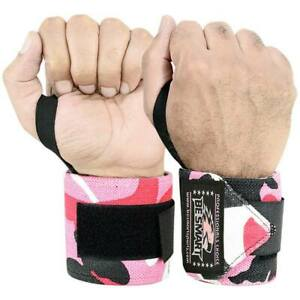 """Be Smart Power Weight Lifting Wrist Wraps Support Gym Workout Bandage Straps 18"""""""