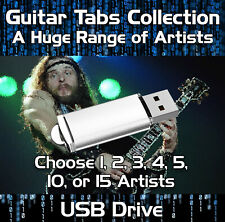 1, 2, 5, 10 or 15 x ARTISTS MULTI-BUY GUITAR TABS TABLATURE TUITION SOFTWARE USB