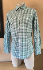 Men's BODEN - Green Lilac - Gingham Check - Button Cuff - Shirt - Size Small