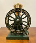 Vintage Cast Iron & Brass Birchleaf Coffee Grinder by David Birch, London