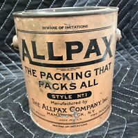 A Vintage Five Pound Tin of Allpax Style No.1 - Tin Almost Full Weighs 4.99 Lbs.