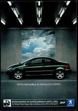 cartolina pubblicitaria PROMOCARD n.4220 PEUGEOT 307 COUPE MILANO AUTOMOBILE