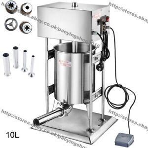 10L Electric Automatic Churros Machine Sausage Stuffer Sausage Salami Maker
