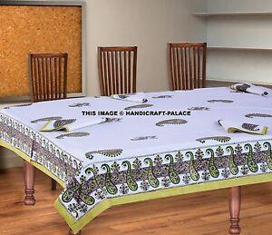 Table Tapis Avec Serviette Coton Pure Bloc Imprimé Indien Housse Hippie Décor