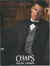 44 S Chaps Ralph Lauren Black Tuxedo Coat Pant Vest Bow tie Complete Tuxedo