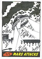 Mars Attacks Heritage Sketch Card: Pat Barrett
