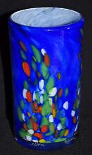 Vase en verre bullé soufflé signé MARC BIOT collection design