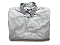 Chaps by Ralph Lauren Mens Shirt Size M 15 - 15.5 Long Sleeve Button Up Grey