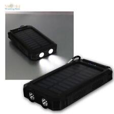 Outdoor Powerbank 8000mAh mit Solar und Taschenlampe Zusatzakku 2x USB Ladegerät