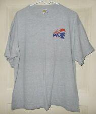 DIET PEPSI Gray T-Shirt Vintage Advertising Tee XL 100% Cotton SANTEE GOLD NEW