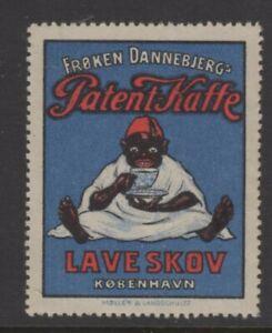 Denmark Advertising Stamp Magazine Patent Coffee Advertisement Black Man in Fez