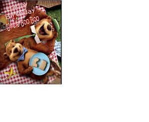 "YOGI BEAR CAKE TOPPER Personalised A4 Icing Sheet 10""x8"""