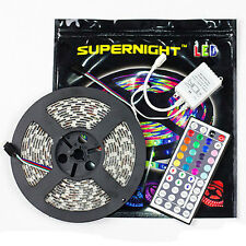 SUPERNIGHT® 5M 5050 SMD RGB 300LEDs Flexible Strip Waterproof / 44 Key IR Remote