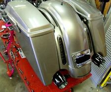 Custom Slanted Stretched ABS Bags Extended Saddlebags for Harley FLH FLHX CVO