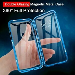 Double Side Glass Phone Case Metal Fitted Plain Waterproof Cover For Huawei