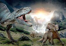 Jurassic Dinosaur Park Theme Photo Poster Print ONLY Wall Art A4 ART WORK REF5