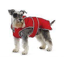 Vestiti e scarpe rosse in nylon per cani