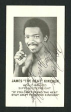 James The Heat Kinchen signed autograph Middleweight Boxer Business Card BC413