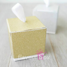 10x Gold Bomboniere Boxes Wedding Favour Box Baby Shower Favour Boxes Cookie Box