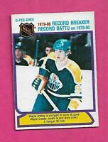 1980-81 OPC  # 3 OILERS WAYNE GRETZKY RECORD BREAKER EX-MT CARD (INV# D0489)