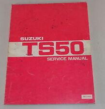 Officina manuale Workshop Manual Suzuki ts50 STAND 07/1979
