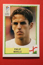 Panini EURO 2000 N. 82 ENGLAND NEVILLE  TOP MINT WITH GREEN BACK
