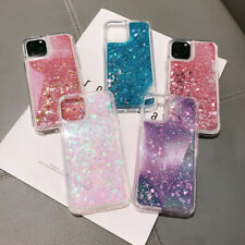 US For Samsung S10 A30 Huawei P30 Y9 Bling Dynamic Liquid Glitter Soft TPU Case