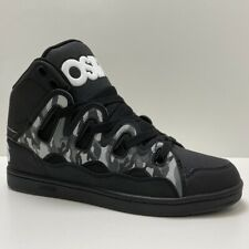 OSIRIS SHOES D3H BRIGADE BLACK WHITE CAMO TRAINERS