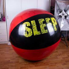 Riesen Aufblasbare wasserball 140cm+ infl. *red/black eat/sleep/rave* beach ball
