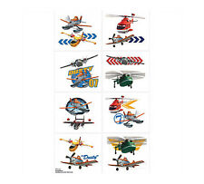 DISNEY PLANES BIRTHDAY PARTY SUPPLIES FAVOURS 8 SECTIONS CUT IN TO 16 TATTOOS
