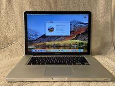 "Apple MacBook Pro A1286 i7 15"" in Laptop -MC723LL/A February, 2011 8GB RAM 500GB"