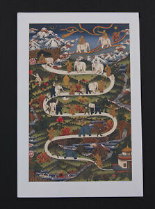Postcard Tibetan Way of / The Paradis Art Buddhist Tibet Nepal 26294