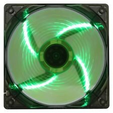 Game MAX 120mm 12CM 4 x LED Green Case Cooling Fan 3 + 4 Pin Computer cooler