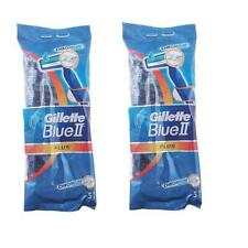 2X Packs Gillette Blue 2 Plus Blade Disposable Razor Pack of 5 Razors