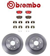 For Toyota RAV4 Lexus HS250h Rear Brake Disc Rotors Ceramic Pads Kit OEM Brembo