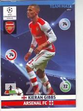 PANINI FOOT TRADING CARD CHAMPIONS LEAGUE  KIERAN GIBBS ARSENAL FC