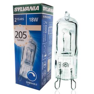 x 1 Sylvania Hi-Pin G9 ECO 18w Halogen Capsule Bulb - Natural Light 240v