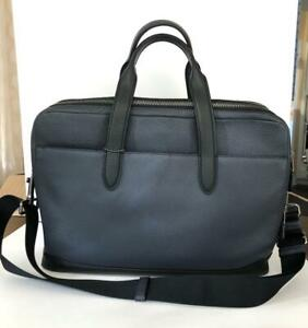 COACH 27617 Mens Ultimate 24-hour overnight briefcase computer bag Midnight blue