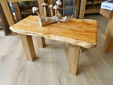 Hand Crafted Made Solid beautiful & stunning Yew & Oak COFFEE TABLE