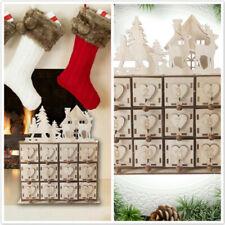 Christmas Advent Calendar Holds Smarties Kinder Love Heart Sweets House Decor SO