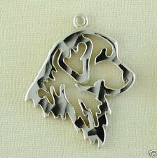 Golden Retriever Dog Head Traditional Charm Jewelry - 925 Sterling Silver