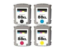 4PK New Hi-Yield Ink For HP 88XL 88 OfficeJet Pro K5400 K550 K8600 L7500 L7580